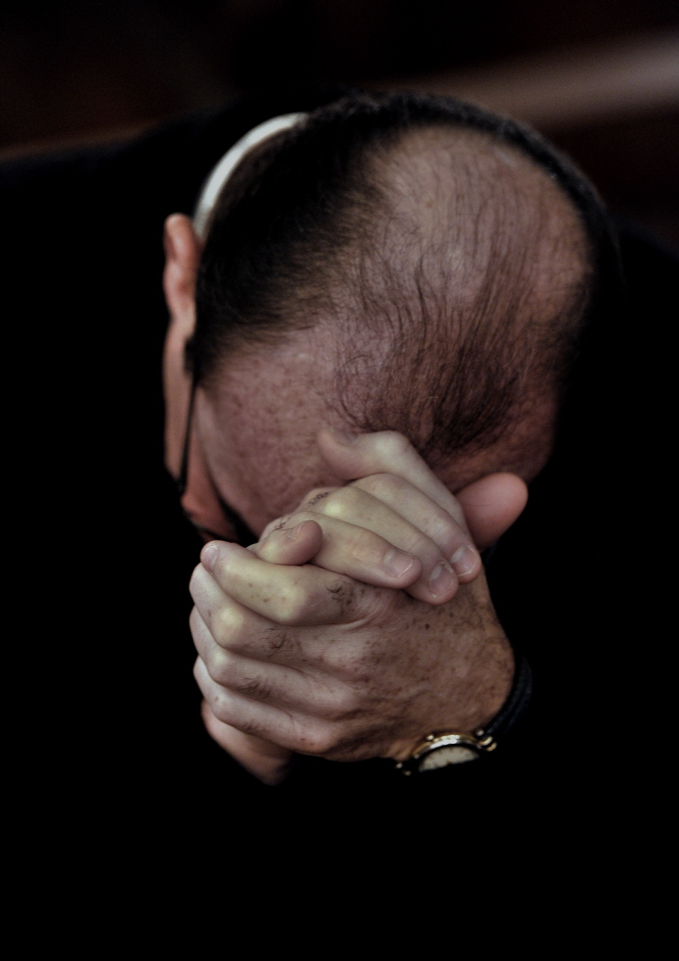 Portraits de séminariste en train de prier Séminaire de Baulieu,Bordeaux